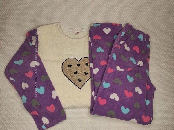 Плюшевая пижама женская с флисовыми штанами