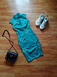 Женское красивое изящное платье в японском стиле jane norman - размер 42