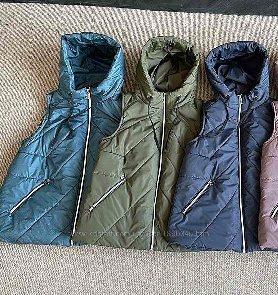 Супер-цена и качество Женская жилетка Батал 3 цвета Размер 50, 52, 54, 56