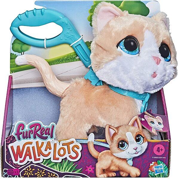 FurReal Walkalots Интерактивная игрушка Большой питомец на поводке Котенок