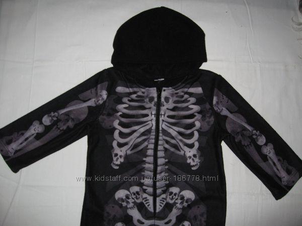 флисовый человечек со скелетами на 2-3 года