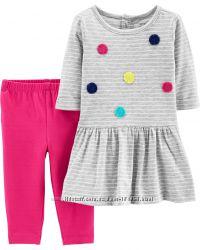 Комплекты платье и лосинки фирмы Carters 12м