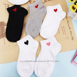 Носки с сердечками
