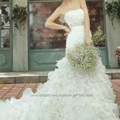 Шикарное свадебное платье. Дешево