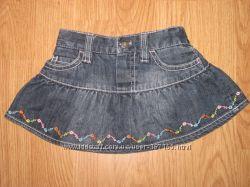 Фирменные юбочки Next, George, Guess, джинсовый сарафанчик H&M