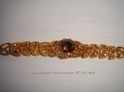 Богатый ажурный браслет с кристаллами. Будьте красивы