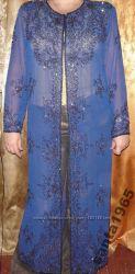 Шикарный  шифоновый кардиган с вышивкой. Индия. Ручная работа мастера