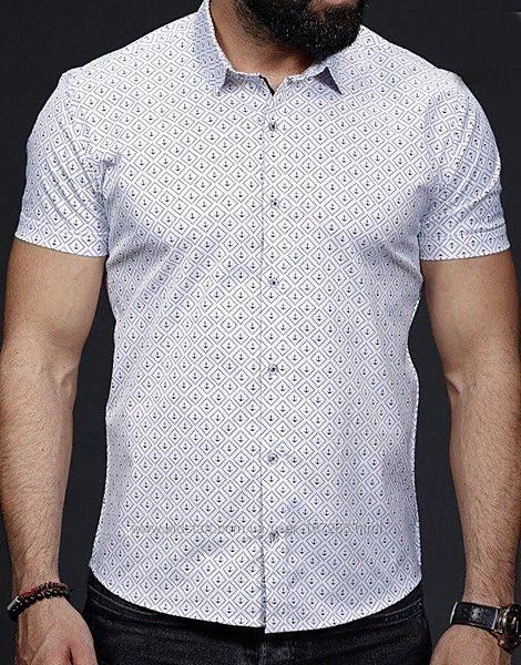Хлопковая рубашка с коротким рукавом турецкой фирмы rubaska