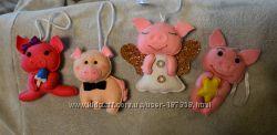 Свинки  подвески,  игрушки