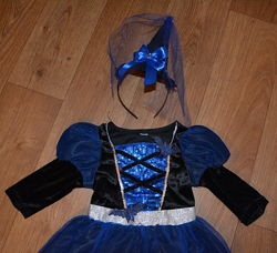 Карнавальное платье Ведьмочки с колпаком  3-5 лет - прокат