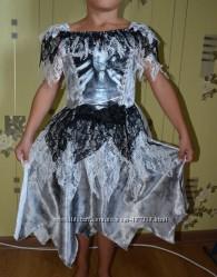 Платьице Скелетши для девочки 7-8 лет - прокат
