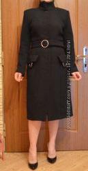 Классическое черное пальто L