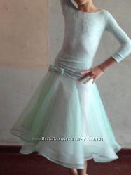Платье ювенальское для бальных танцев - стандарт, ткань dsiі