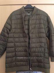 Куртка- парка, Zara, девочке, на рост 146-152, модный цвет хаки