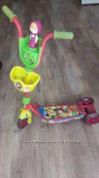 Детский трехколёсный самокат Маша и Медведь Disney