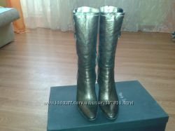 Сапожки  Maria Tucci 38р, Натур. кожа бронза