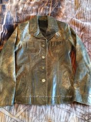 Стильная кожаная куртка - пиджак Promod, р-р 36&9210, Франция