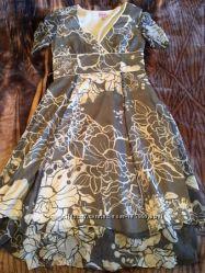 Брендовое шелковое новое платье Phase Eight. 12 р-р. Оригинал