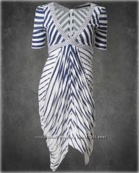 Брендовое платье в полоску Bolongaro Trevor, Англия, оригинал, р-р XS