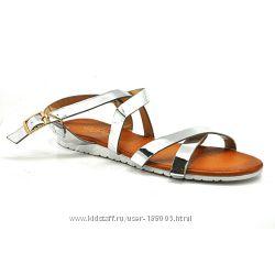 Женские сандалии стального цвета. Все размеры