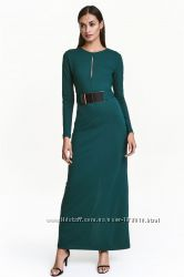 Платье НМ с поясом по себестоимости черного цвета