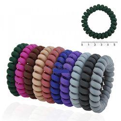 Резинки для волос силиконовые спиральки