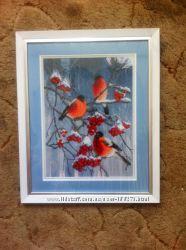 Картина Зимнее утро  вышита бисером