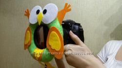 Игрушка на объектив фотоаппарата ручной работы
