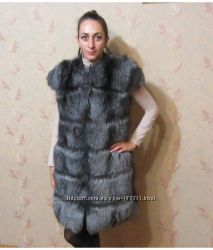 Fur vest, fox vest, меховой жилет, жилет из чернобурой лисы. Как  Я  Без не