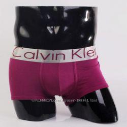 Мужское нижнее белье трусы боксеры с надписью Calvin Klein модель Steel