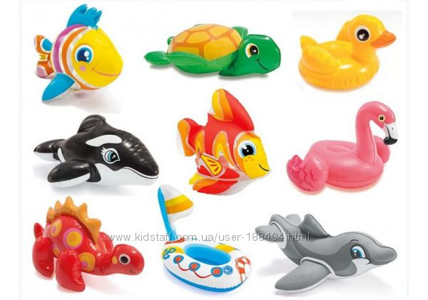 Надувная игрушка для пляжа ванной Intex 58590 в ассортименте