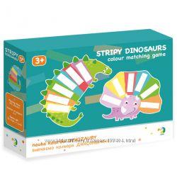 Настольная игра Изучаем цвета полосатые динозавры Dodo