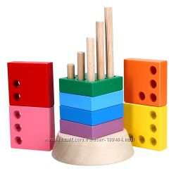 Деревянная игрушка пирамидка Вундеркинд KomarovToys