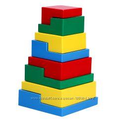 Деревянная игрушка пирамидка Головоломка 8 эл. KomarovToys