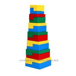 Деревянная игрушка пирамидка Головоломка 14 эл. KomarovToys