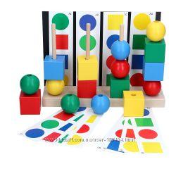 Деревянная игрушка пирамидка Умник KomarovToys