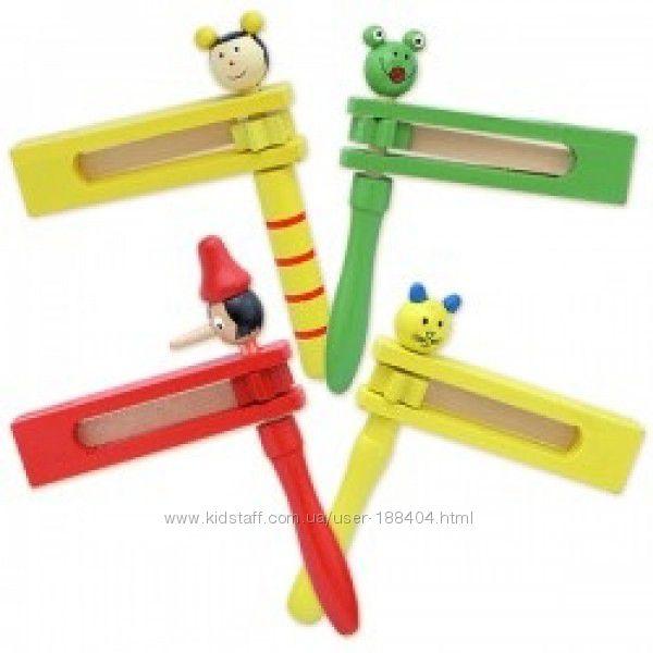 Деревянная игрушка Трещётка