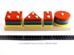 Деревянная игрушка Геометрик 4 фигуры