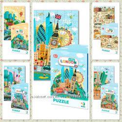Картонные пазлы Города в ассортименте, Додо  Dodo