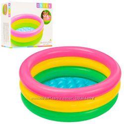 Бассейн надувной разноцветный Intex 57107