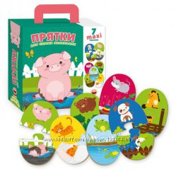 Пазлы-двойняшки Прятки для самых маленьких Vladi toys VT2904-02