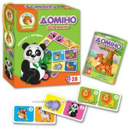 Игра домино для малышей Животные Vladi Toys, VT2100-04