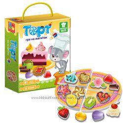 Игра магнитная Торт Vladi Toys на русском, VT3004-07