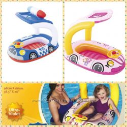 Надувная лодочка- плотик Машинка розовая  Полиция BW 34103 Bestway