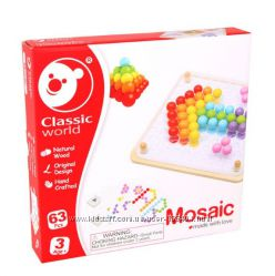 Деревянная мозаика конструктор Волшебные шарики Classic world 3597