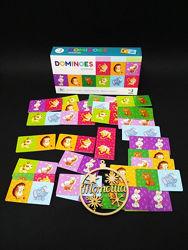 Настольная игра DoDo Домино Животные  Доміно Тварини 300248 Dodo