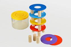 Деревянная игрушка пирамидка - балансир Радуга Веселка ПР-014 Tato Тато