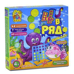 Настольная игра -  4 в ряд / Настільна гра - 4 в ряд 7231 Fun game