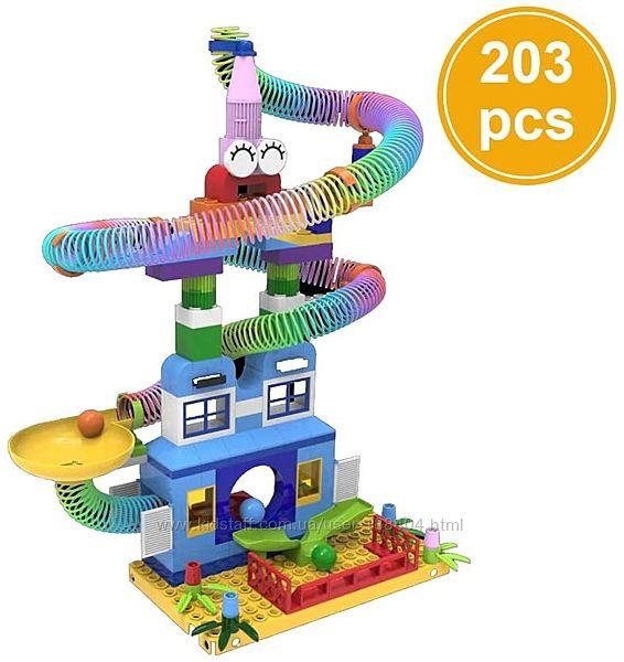 Конструктор с пружинками Rolling Funland, 203 детали 202102 Gessle