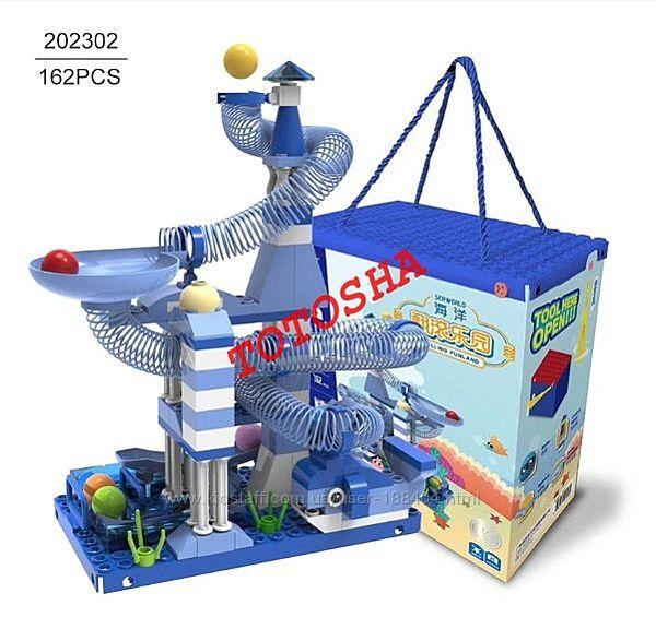 Конструктор с пружинками Rolling Funland, 162 детали 202302 Gessle